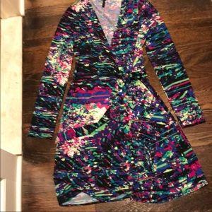 BCBGMAXAZRIA EUC dress! Wonderful colors!